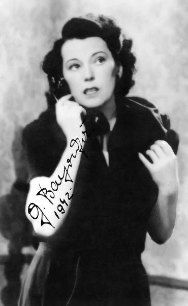 Bajor Gizi - dedikált képeslap 1942-ből