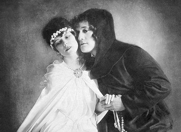 Bajor Gizi - Beregi Oszkárral a Nemzeti Színház híres Rómeó és Júliájában, 1918-ban