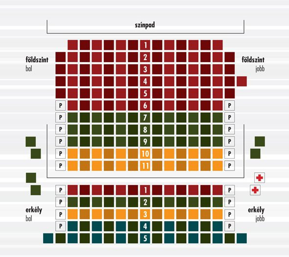 A Radnóti Színház nézőtere