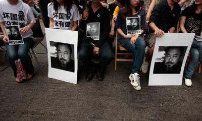 Ai WeiWei-ért tüntetők Hongkongban