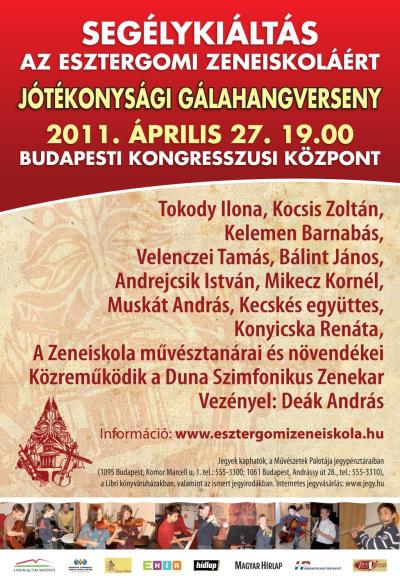 Segélykoncert az Esztergomi Zeneiskoláért