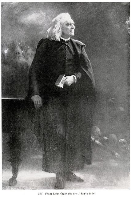 Liszt Ferenc - Ilja Repin festménye 1886-ból