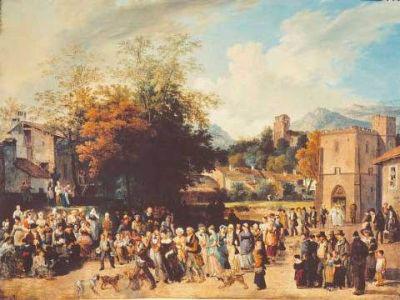 Töpffer: Falusi esküvő