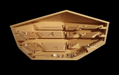 Az új, bolognai koncertterem terve
