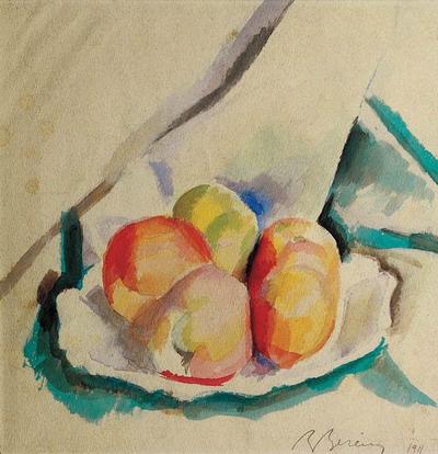 Berény Róbert: Almás csendélet (1911)