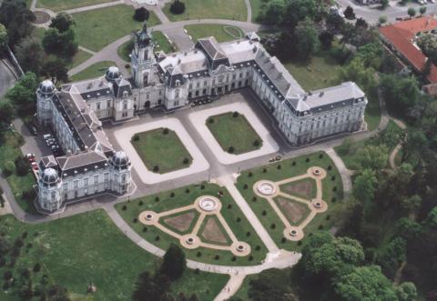 Festetics kastély (Keszthely) felülről