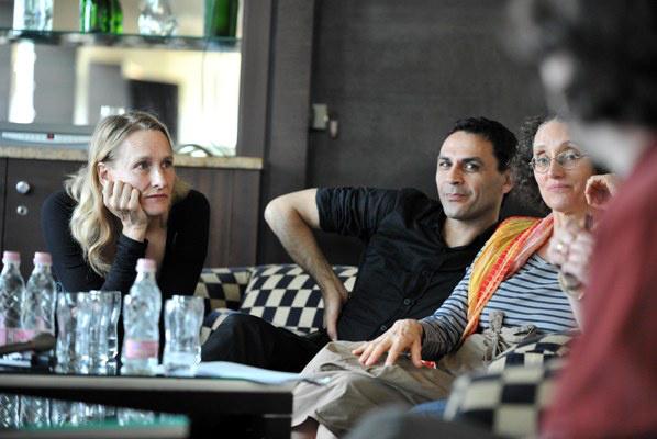 Julie Shanahan, Daphnis Kokkinos, Nazareth Panadero - a Wuppertali Táncszínház tagjai