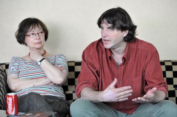 Lakos Anna és Robert Sturm, a Wuppertali Táncszínház művészeti vezetője