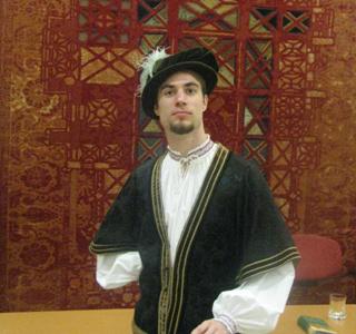 Czinege Ádám korhű barokk öltözetben - Régi Zenei Napok, Sopron