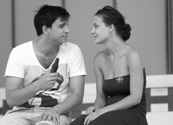 Sörgyári capriccio (próba) - Szabó Kimmel Tamás, Radnay Csilla (Kőszegi Várszínház - fotó: SzoFi)