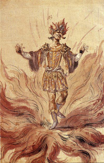 A Tűz megtestesülése - A soproni jezsuita díszlettervgyűjteményből