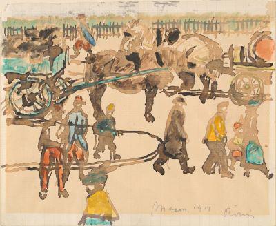 Rippl-Rónai József: Utcakép (1914)