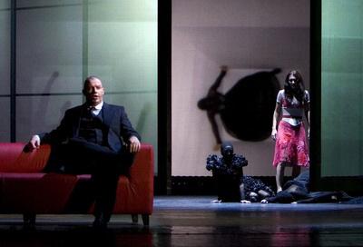 A kékszakállú herceg vára - Szabó Bálint, Vizin Viktória,Bartók: Kékszakállú - premier, 2009.10.11, MÁO
