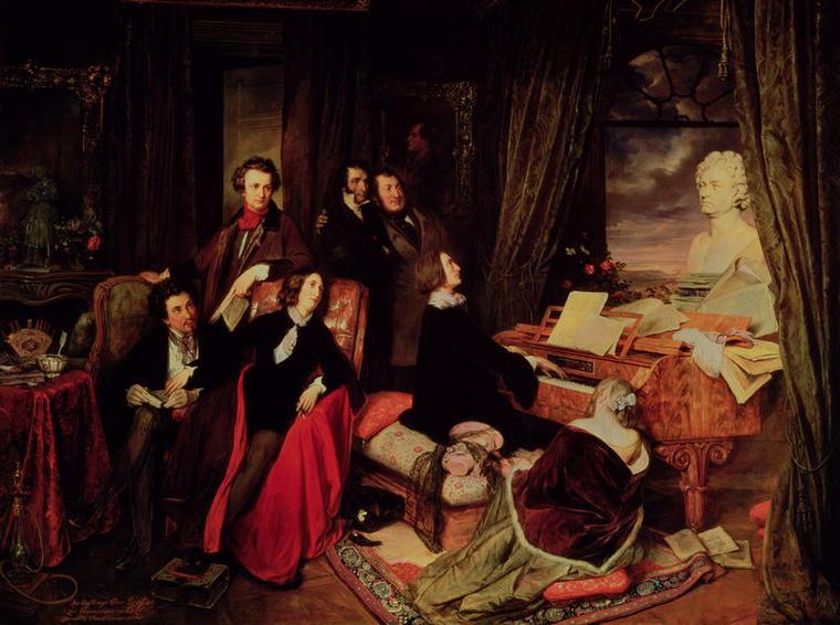 Josef Danhauser: Liszt a zongoránál