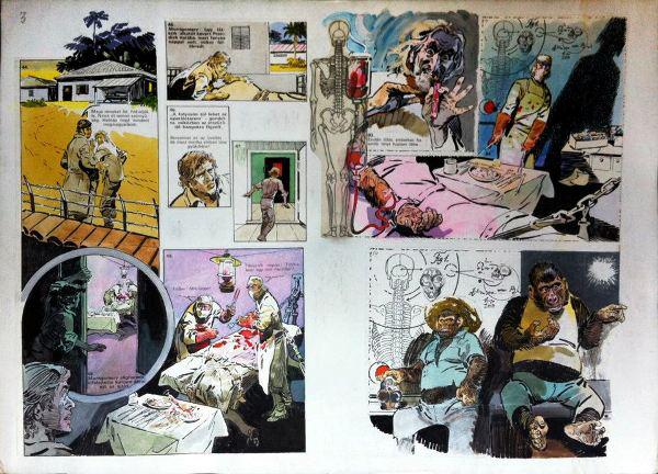 kArton Galéria WOW aukció - Zórád Ernő: Dr. Moreau szigete