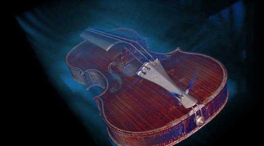 Az 1704-es Betts Stradivarius CT-felvétéle alapján 3D-s videó is készült