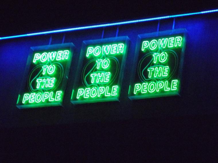 Power To the People - installáció a South Banken
