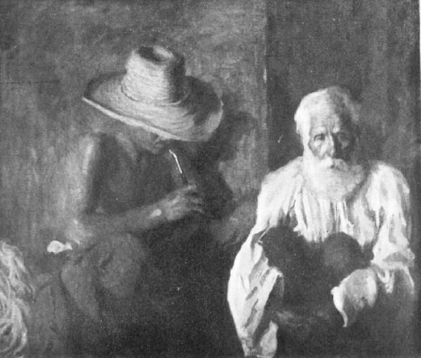 Ferenczy Károly: Öreg és fiatal cigány (1904)