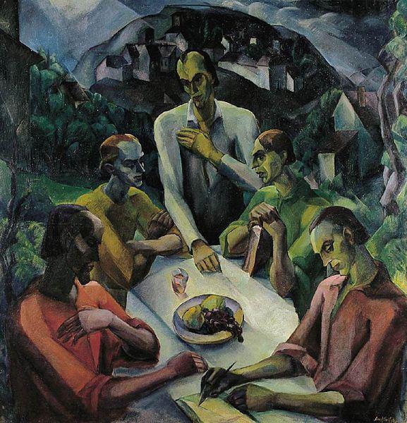 Derkovits Gyula: Az utolsó vacsora, 1922