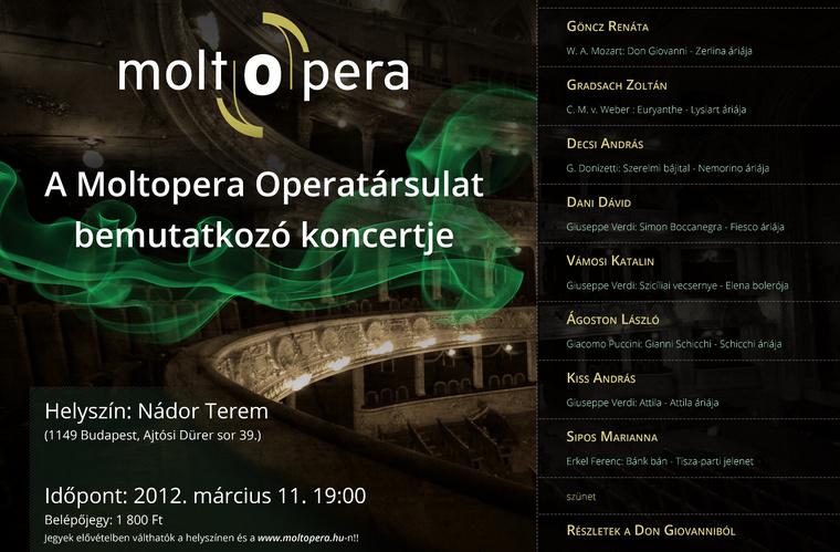 Moltopera 2012. március 11.