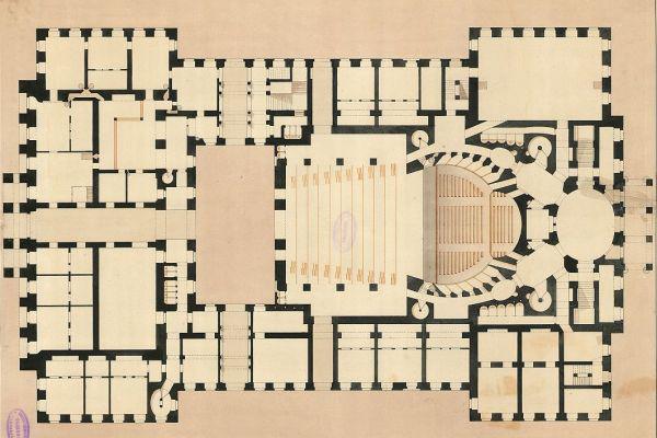 Pesti Német Színház (1812-1849) - alaprajz