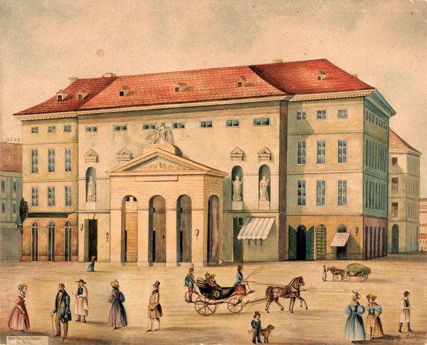 Pesti Német Színház (1812-1849) - Muehling festménye
