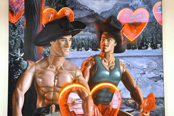 Virág Judit Kortárs Galéria: Nyári István - Horgász party a Brokeback hegyi tónál, 2006