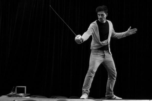 Szabó Kimmel Tamás a Hamlet próbáján