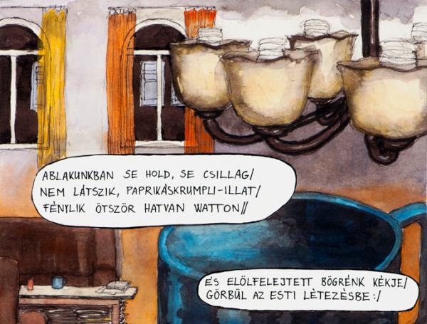 Jakatics-Szabó Veronika: Urbánus poémák (a kép részlet)