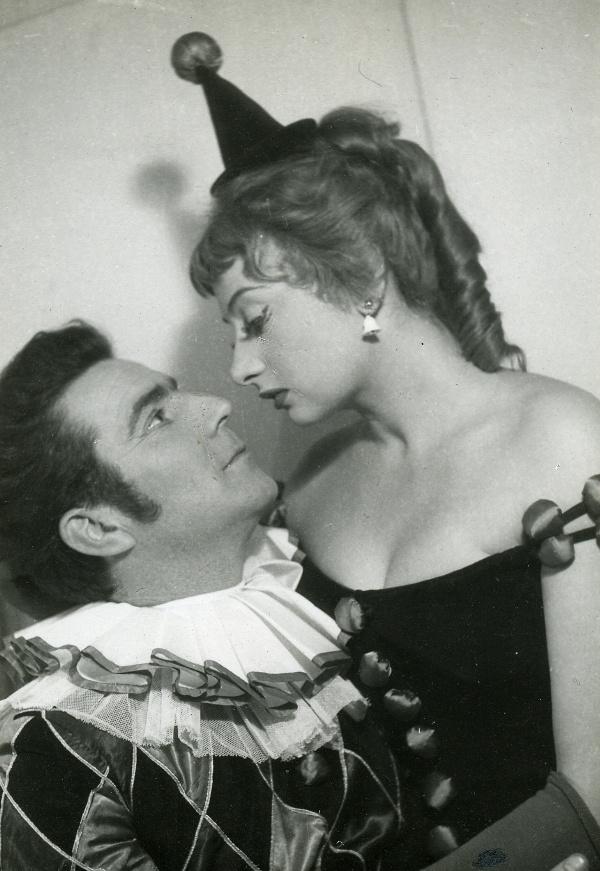 Zenthe Ferenc, Váradi Hédi - G. B. Shaw: Sose lehet tudni (Madách Kamaraszínház, 1956) - fotó: OSZMI