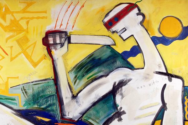 Wahorn András: Man with Knife (1997) - Godot Galéria