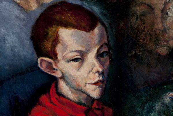 Tihanyi Lajos: Vörösinges fiú, 1909 (részlet) (Nyolcak)