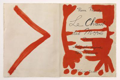 Picasso illusztrációja Reverdy A halál dalai c. kötetéhez