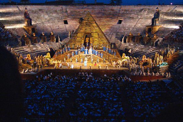 A Veronai Aréna látképe
