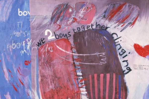 David Hockney: We Two Boys Together Clingig (Mi, a két fiú összekapaszkodva)