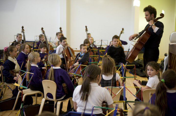 Zenekari foglalkozás a Sistema Scotlandnál