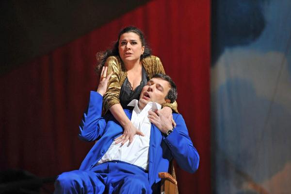 Cecilia Bartoli és Andreas Scholl a Giulio Cesare próbáján. A premiert augusztus második felében tartják.