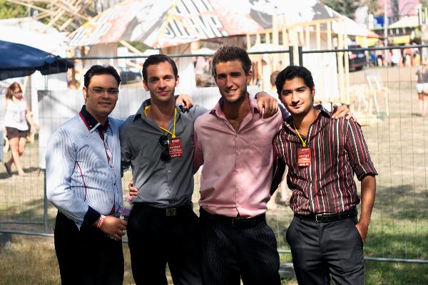 Sziget 2012 - 2. nap, a Nyári Quartet