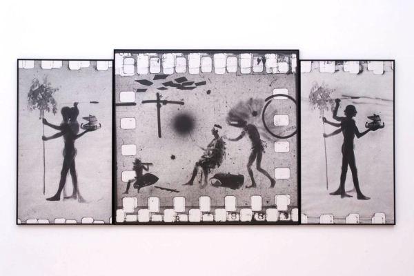 Gémes Péter: Triptichon, 1987-1990 (Ludwig Múzeum - A hős, a hősnő és a szerző) fotó: Rosta József