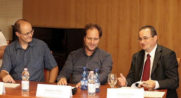 Gyöngyösi Levente, Bogányi Tibor, Horváth ZsoltPannon Filharmonikusok sajtótájékoztató, 2012 szeptember, Pécs
