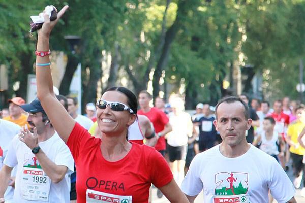 Miklósa Erika futás közben