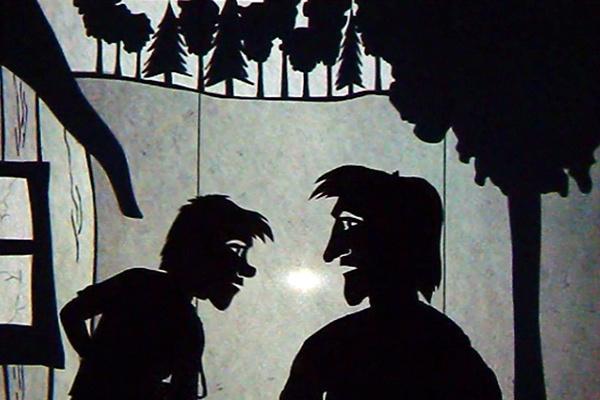 A koldus és királyfi árnyjátékban