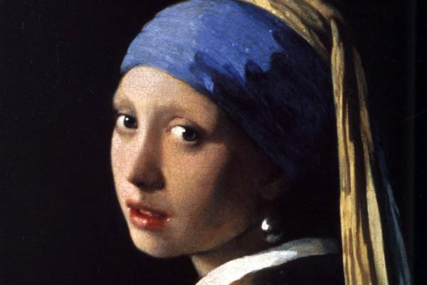Johannes Vermeer: Leány gyöngy fülbevalóval - részlet
