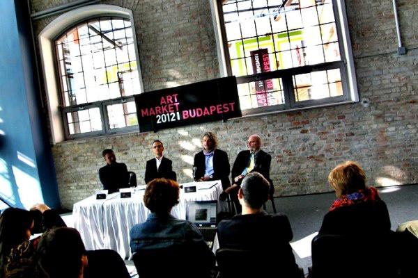 Art Market Budapest 2012, sajtótájékoztató (György Péter, Ledényi Attila, Einspach Gábor, Martos Gábor) - forrás: Facebook