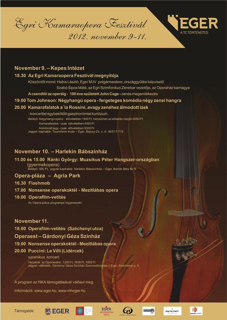 Egri Kamaraopera Fesztivál 2012