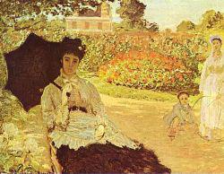 Claude Monet: Camille Monet a kertben (1871)