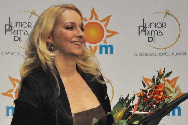 Szőke Nikoletta a 2012-es zenei Junior Prima Díj átadón