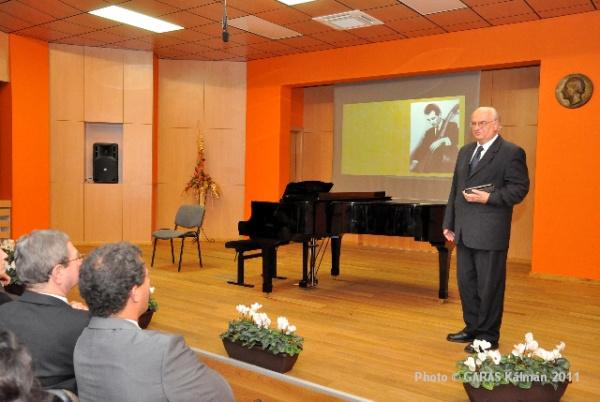 Tibold Iván koncertterem-avató a szombathelyi Bartók Béla zeneiskolában