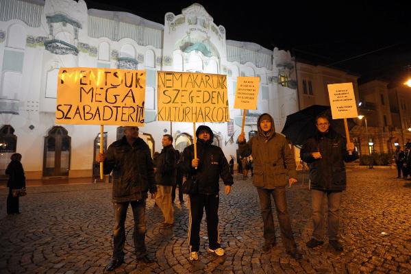 Tüntetés Szegeden
