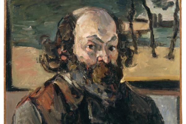 Paul Cézanne: Önarckép (Szépművészeti Múzeum) - részlet